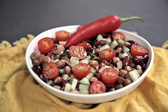 Mallika Basu - Indian Mixed Bean Salad