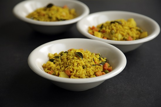 Mallika Basu - Mixed vegetable poha
