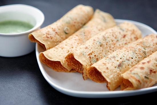 Mallika Basu - Savoury pancakes – Pudla