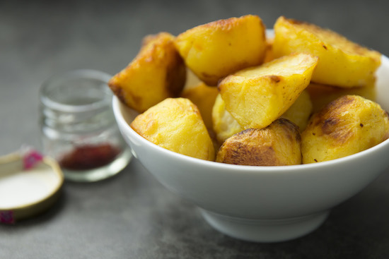 Mallika Basu - Best Saffron Roast Potatoes