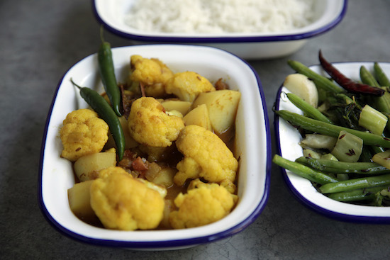 Mallika Basu - Aloo Phulkopir Dalna – Bengali Cauliflower Potato Curry